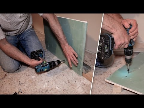 видео: Особенности крепления гипсокартона. Бита с ограничителем