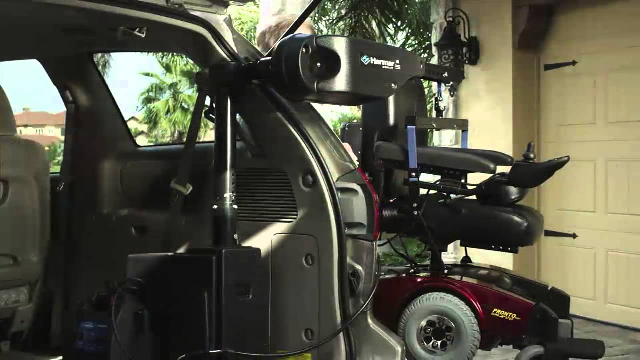 Inside Outside Scooter Lift : Harmar mobility axis ii al inside scooter or powerchair