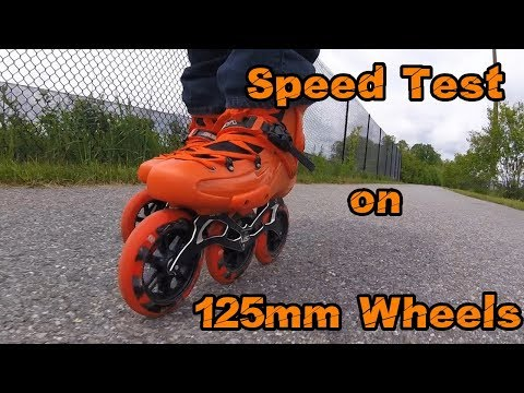 Speed Test - 3 x 125mm Wheels on Seba FR1 Skates