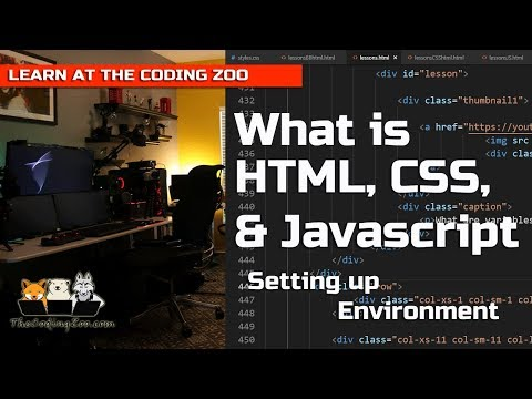 What Is HTML, CSS, And Javascript | Setting Up Your Web Page : HTML Tutorial