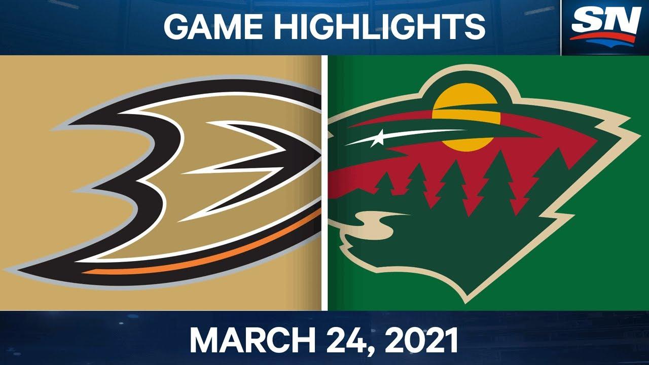 NHL Game Highlights | Ducks vs. Wild – Mar. 24, 2021
