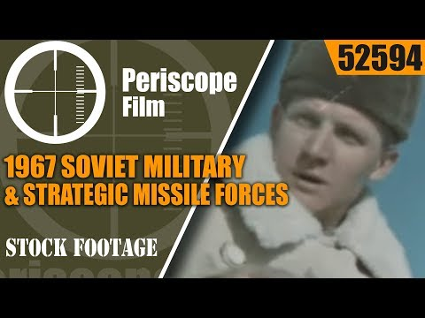 1967 SOVIET MILITARY & STRATEGIC MISSILE FORCES PROPAGANDA FILM 52594