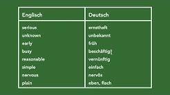 Englisch lernen - 240 wichtige Adjektive (Teil 4)