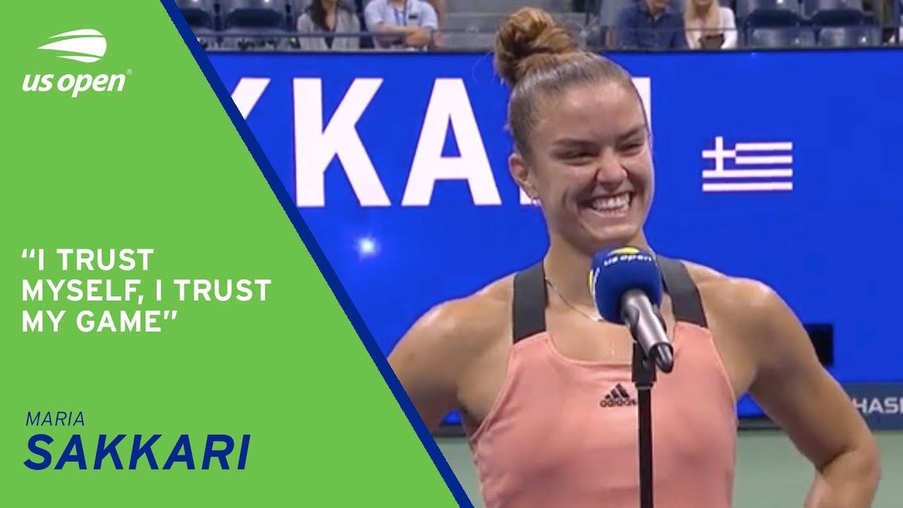 Download Maria Sakkari On-Court Interview | 2021 US Open Quarterfinal