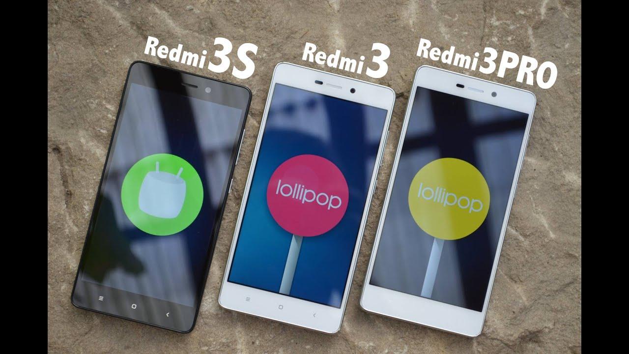 Xiaomi Redmi 3s vs Redmi 3 vs Redmi 3 PRO Detailed view & Performance test