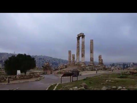 Citadel, Temple of Hercules, Amman Jordan.