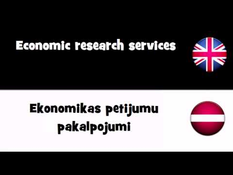 VOCABULARY IN 20 LANGUAGES = Economic research services