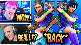 "STREAMERS REACT TO *RARE* ""SOCCER"" SKINS COMING BACK! (SWEATY SKIN!) Fortnite FUNNY & EPIC Moments"