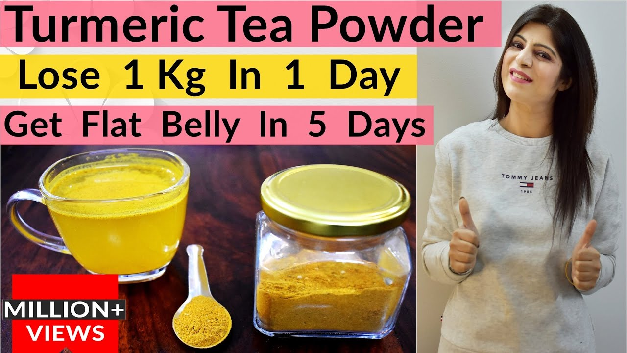 Flat Belly/Stomach In 5 Days(In Hindi)-No Diet/No Exercise | Turmeric Tea Powder | Lose Weight Fast