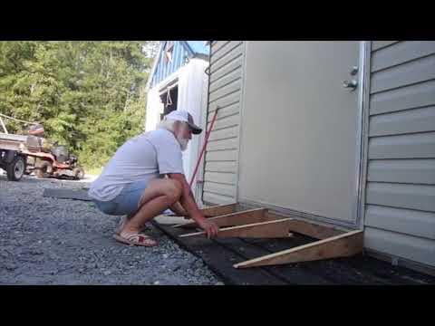 Building a concrete shed ramp
