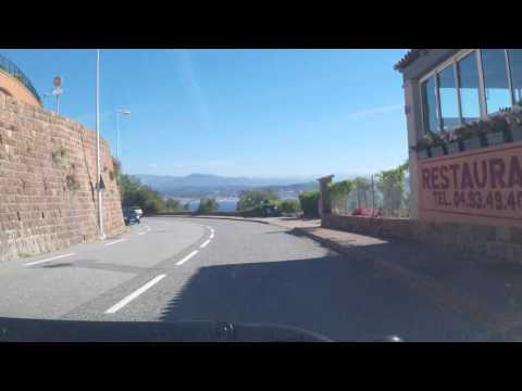 France by Road - Corniche L'Esterel - Miramar to Theoule