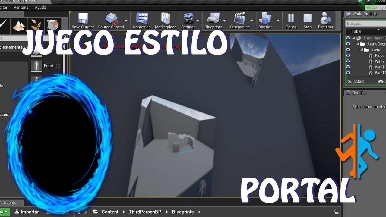 unreal engine juego estilo portal espaol