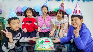 Kids Go To School | Chuns And Best Friends December Birthday Cake Held At Home