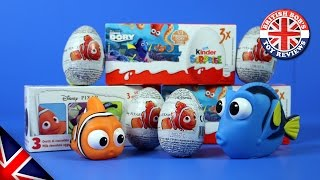 Finding Dory Kinder Surprise Eggs u0026 Finding Nemo Zaini Chocolate Eggs | British Bobs Toy Reviews