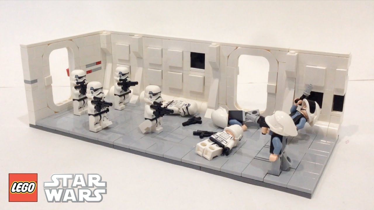 Lego Star Wars Attack On The Tantive Iv Moc Youtube