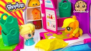 Shopkins Season 3 Unboxing With Fash'ems Toys Disney Frozen Queen Elsa & MLP Applejack In RV