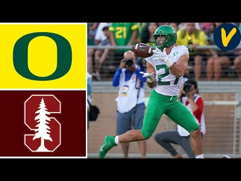 NCAAF Week 4 #16 Oregon vs Stanford College Football Full Game Highlights