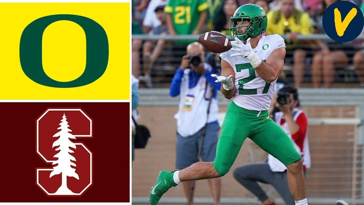 NCAAF Week 4 #16 Oregon vs Stanford College Football Full Game Highlights