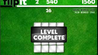 Flipit flash game level1 to level5 complete score 5100