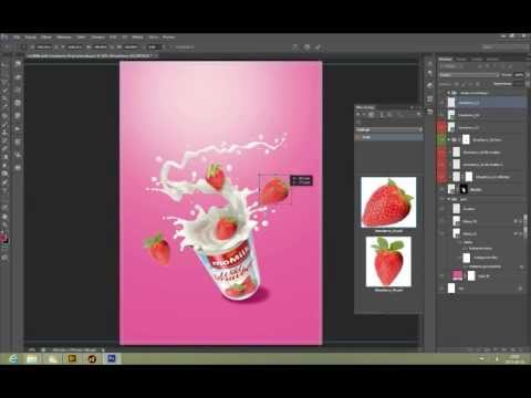 Create a Commercial Print Advertisement Using 3D Splashes