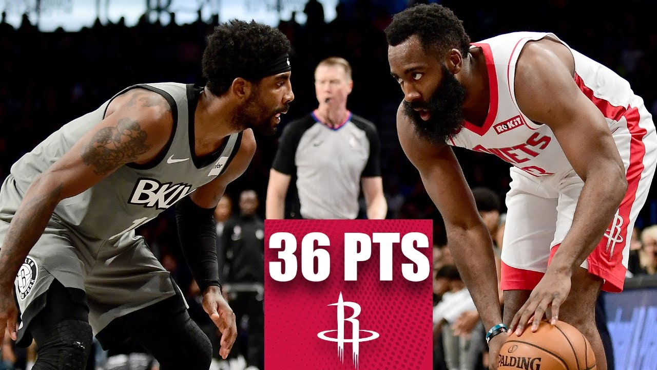 James Harden lights up Brooklyn for 36 points in Rockets-Nets showdown | 2019-20 NBA Highlights