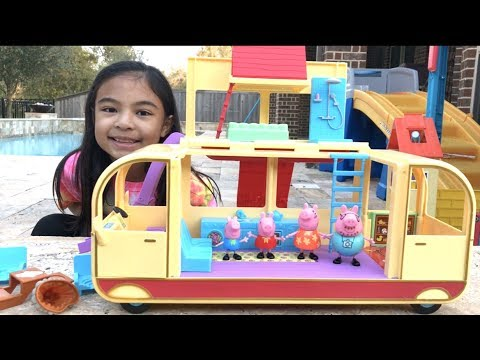Peppa Pig's Transforming Campervan Pretend Play | Toys Academy