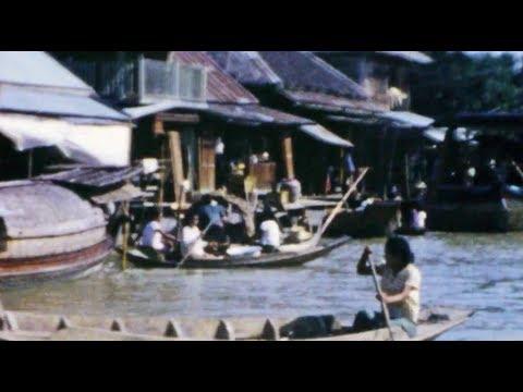 Chao Phraya River 1950's - Bangkok Thailand - 8mm in HD - Restored Sound