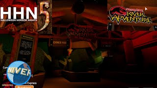 Jurassic Park in the Dark Ride | Universal Roblox | HHN 5