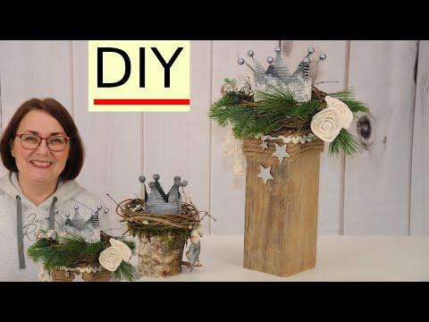 weihnachtsdeko-✨-selber-machen-🎄-eine-krone-auf-holzstamm-upcycling-diy
