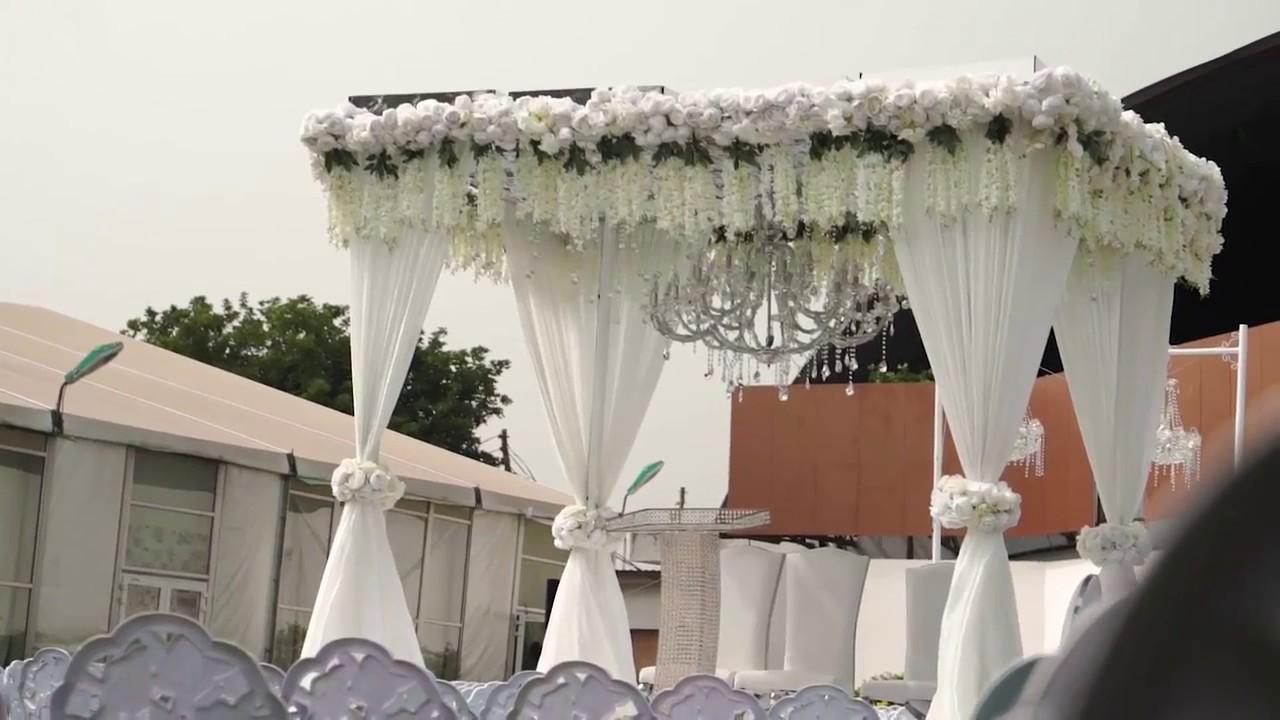 Wedding Reception Decor At Unique Floral Events Centre Trade Fair