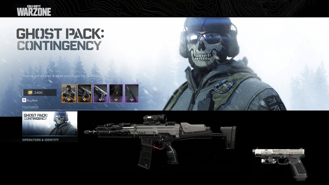 Call Of Duty Modern Warfare Ghost Pack Contingency Purchase And