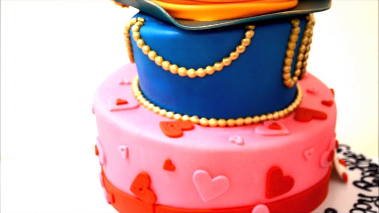 Alice And Wonderland Cake Custom Cake Birthday Cake Youtube