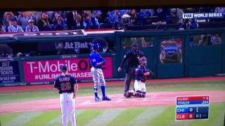 Chicago Cubs World Series Game 7 First Homerun Dexter Fowler 2016