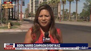 Local News having a hard time reporting Biden's campaign in Arizona.