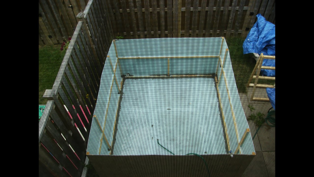 Build your own cardboard swimming pool diy howto youtube for Build your own swimming pool