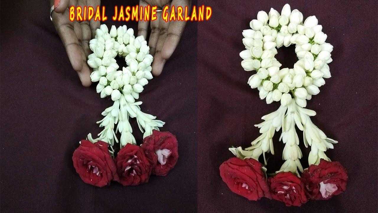 Jasmine Wedding Garland Tutorialstring Jasmine Garland How To
