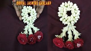 Jasmine Wedding garland Tutorial|String Jasmine Garland |How  to String Jasmine Flower Garland