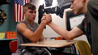 Arm wrestling in School