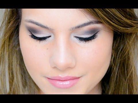 silver brown smokey eye makeup look with lorac pro palette   youtube