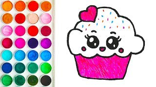 Drawings with Cake with Hearts for Baby, Colorings for Babies