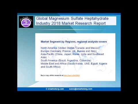Global Magnesium Sulfate Heptahydrate Market 2018