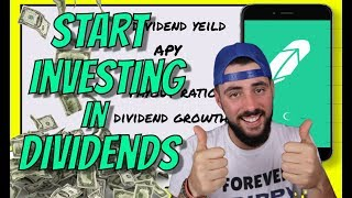 HOW TO START DIVIDEND INVESTING ON ROBINHOOD  -  Dividend Growth Strategy For Financial Freedom