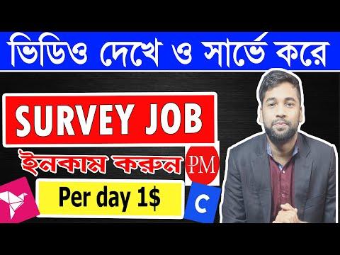 সার্ভে করে ও ভিডিও দেখে ইনকাম করুন   Survey Work Bangla Tutorial   Online Income Bd