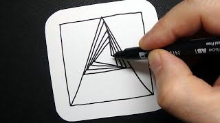 Letter A Spiral Drawing - Alphabet Series - Art Therapy - Satisfying Demo