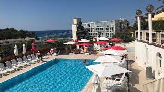 Хорватия, Пореч. Hotel PLAVA LAGUNA ISTRA. Опять меняем номер и идём на пляж.