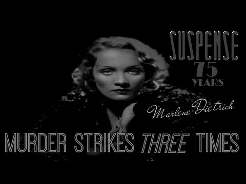 "MARLENE DIETRICH • Best Twist Ending SUSPENSE • ""Murder Strikes Three Times"" •"