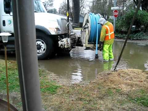 1/23/12 Rain storm Citrus Heights flooding storm drain cleanup p3