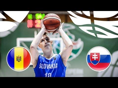 Moldova v Slovakia - Full Game - FIBA U20 European Championship Division B 2018