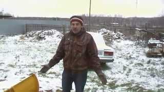снежный отвал на УАЗ 469 (обзорчик)