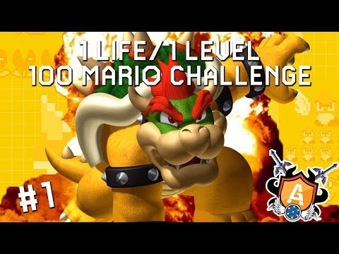 THE A-GAME CHALLENGE: 1 LIFE/1 LEVEL 100 MARIO CHALLENGE